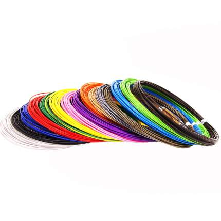 Набор пластика pla для 3d ручек 12 цветов pla-12