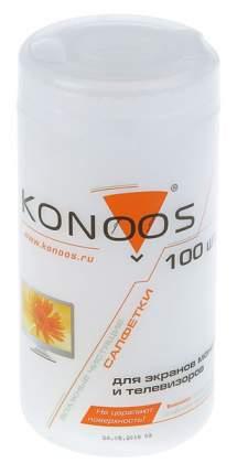 Влажные салфетки для экранов ЖК(LCD,TFT), KBF-100 - туба 100шт. Konoos