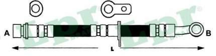 Тормозной шланг Lpr 6T47489
