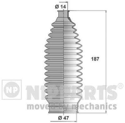 Пыльник рулевой рейки Nipparts J2843011