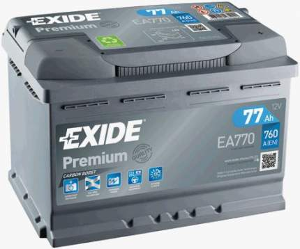 Аккумулятор автомобильный EXIDE EA770 77 Ач