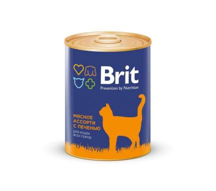 Консервы для кошек Brit Prevention by Nutrition, мясо, печень, 340г