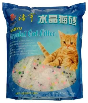 Впитывающий наполнитель для кошек Haoyu силикагелевый, цветы, 1.8 кг, 3.8 л