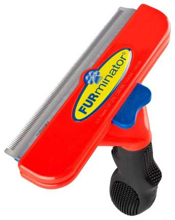 Фурминатор для собак FURminator®, длина шерсти длинная, красный, черный