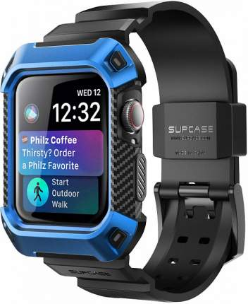 Чехол-ремешок Supcase Protective Case with Strap Bands для Apple Watch Series 4 44mm Blue