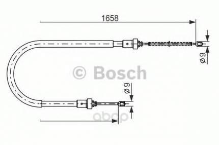 Трос стояночного тормоза renault logan 1.4 07/2004 Bosch 1987482234