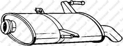Глушитель выхлопной системы bosal 190875