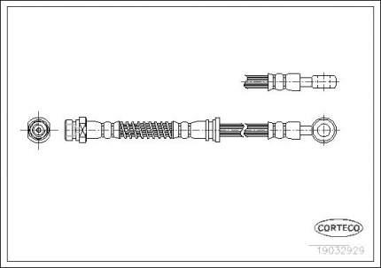 Шланг тормозной системы CORTECO 19032929