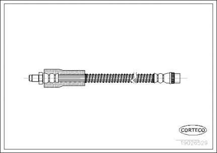 Шланг тормозной CORTECO 19026529