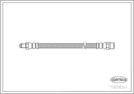 Шланг тормозной системы CORTECO 19036311