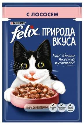 Влажный корм для кошек Felix Природа вкуса, лосось, 85г