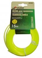 Леска для триммера Skrab 2,4 мм/15 м 28363