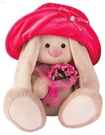 Мягкая игрушка Budi Basa Зайка Ми в бархатной шляпе с букетиком 18 см