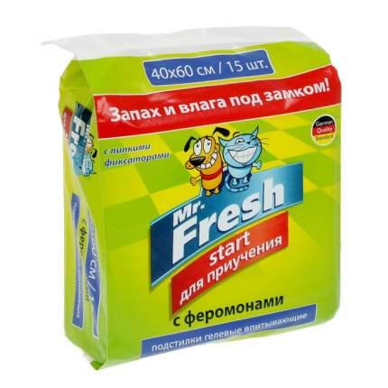 Пеленки для домашних животных Mr.Fresh для кошек, для собак 40 x 60см 15шт
