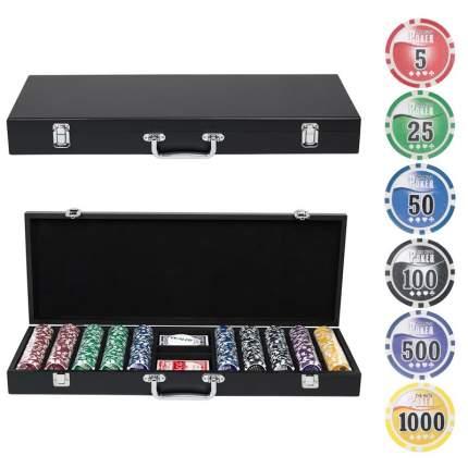 Набор для покера Partida Wood на 500 фишек