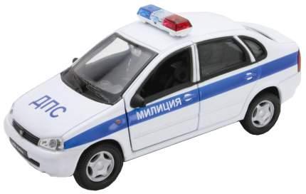 Модель машины Welly 42383PB 1:34-39 LADA Kalina Милиция ДПС