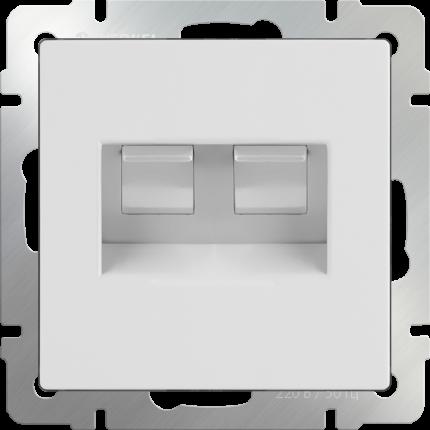 Компьютерная розетка Werkel Ethernet RJ-45 WL01-RJ45+RJ45 a033759 белый