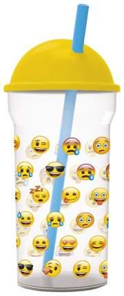 Стакан пластиковый с соломинкой Stor Эмодзи Лица 86688