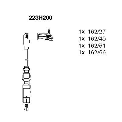 Комплект проводов зажигания BREMI 223H200