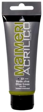 Акриловая краска Maimeri Acrilico M0916331 зеленый оливковый 75 мл
