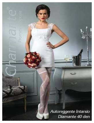 Чулки Charmante свадебные Intarsio Diamante, 40 Den, кремовый, L-XL
