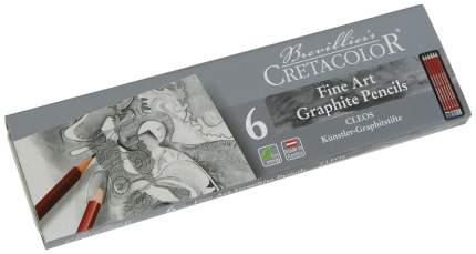 Набор профессиональных чернографитных карандашей Cleos, 6 штук