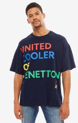 Футболка мужская United Colors of Benetton 3BL0J15C6_016 синяя/красная/желтая/зеленая M