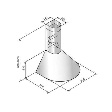Вытяжка купольная Elikor Эпсилон 60П-430-П3Л Brown/Gold