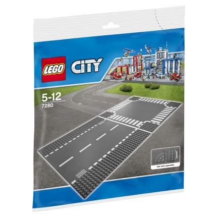 Конструктор LEGO City Supplementary Прямая дорога и перекрёсток (7280)