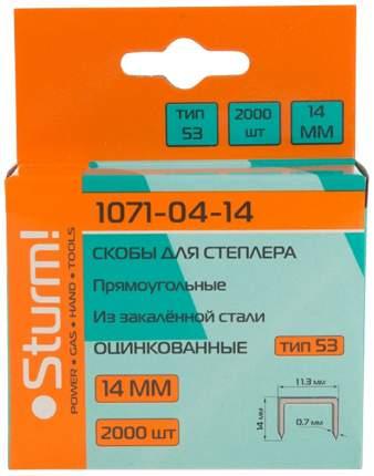 Скобы для электростеплера Sturm! 1071-04-14