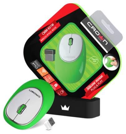 Мышь беспроводная Crown CMM-931W зеленый USB