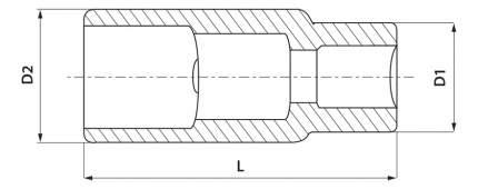 Торцевая головка THORVIK SPS1221