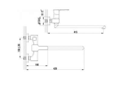 Смеситель универсальный LEMARK Basis LM3617C хром