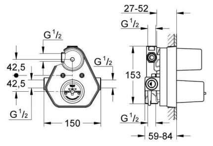 Смеситель для встраиваемой системы Grohe 34212000 латунь