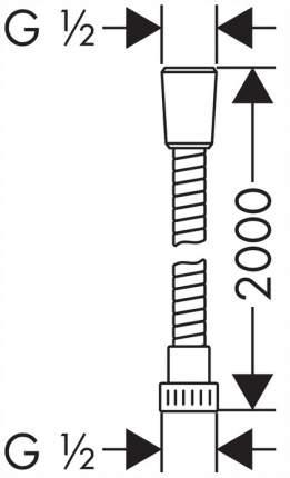 Душевой шланг Hansgrohe 28264000 200см
