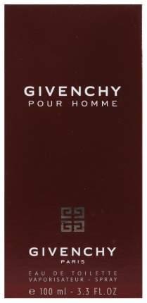 Туалетная вода Givenchy Pour Homme 100 мл