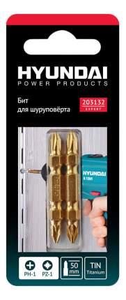 Набор бит для шуруповертов Hyundai PH-1*PZ-1 50mm 2шт (50/500) 203132