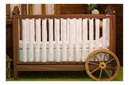 Текстильный бортик для кроватки Cloud factory Plain White, 12 шт CF-1-PW