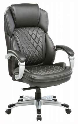 Кресло руководителя Бюрократ T-9915/BLACK, черный/серебро