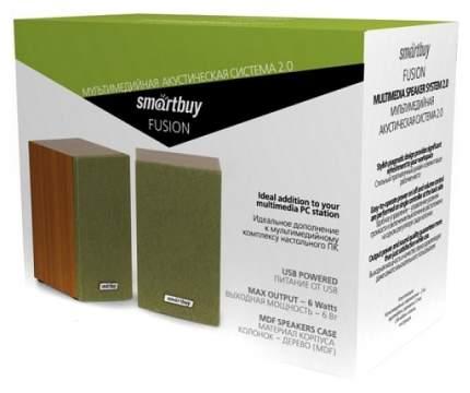 Колонки компьютерные 2.0 Smartbuy Fusion Вишневый/Зеленый