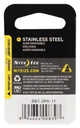 Набор карабинов из нержавеющей стали Nite Ize S-Biner #1 2 шт. SB1-2PK-11