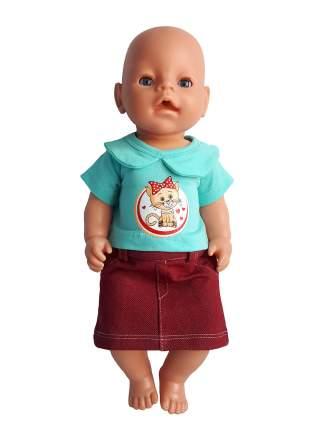 Юбка и футболка для куклы Колибри Кошечка 114