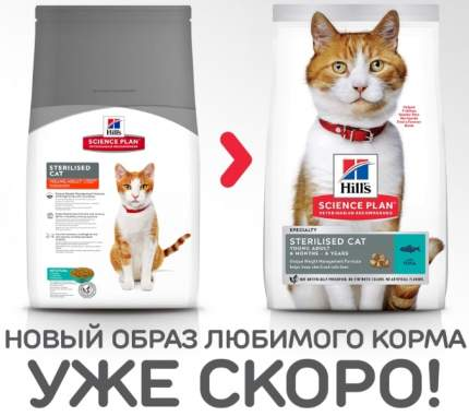 Сухой корм для кошек Hill's Science Plan Sterilised для стерилизованных, рыба, 1,5кг