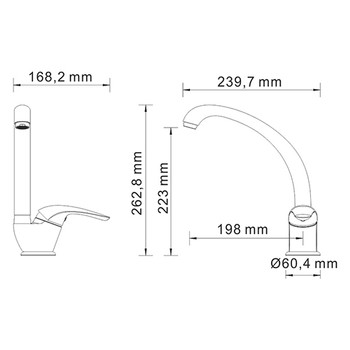 Смеситель для кухонной мойки WasserKRAFT Rossel 2807