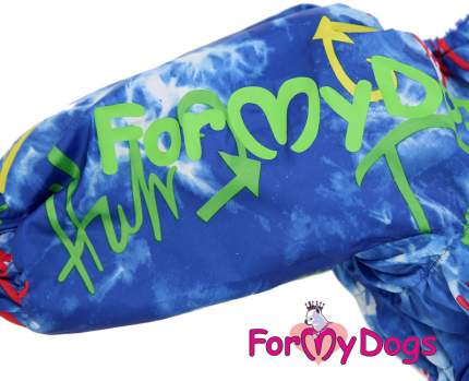 Комбинезон для собак FOR MY DOGS, мужской, синий, FW766 3-2019 M C3