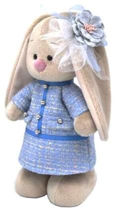 Мягкая игрушка BUDI BASA Зайка Ми в голубом платье в клетку, 32 см