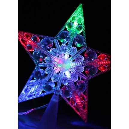 Фигурка новогодняя Космос Макушка на елку светодиодная 17x17x4 см