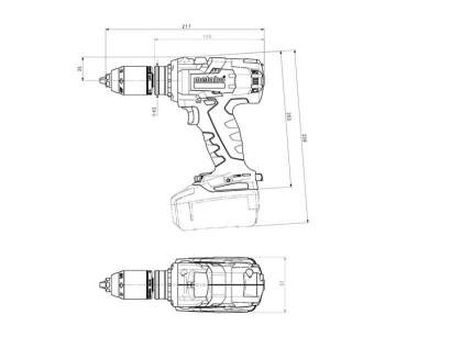 Аккумуляторная безударная дрель-шуруповерт Metabo 602354660