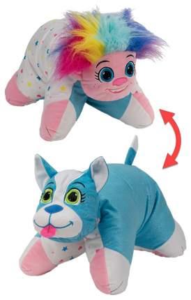 Мягкие игрушки-подушки 1TOY Т12041 2 в 1 вывернушка радужный тролль блестящий щенок