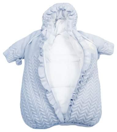 Конверт Linas Baby (Линас Бэби) вязаный п/шерсть голубой 5063-7 S, 62см